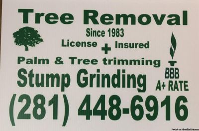 Tree trimming and stump grinding