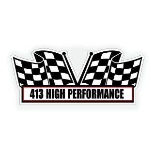 Buy 413 HIGH PERFORMANCE AIR CLEANER wedge engine DECAL for mopar classic muscle car motorcycle in Mentor, Ohio, United States, for US $5.98