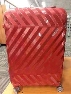 American tourister red luggage brand new