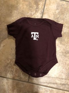 Texas A&M Aggies Like New Onesie Playsuit. Very Nice Condition. Size Newborn