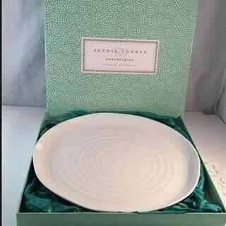 SOPHIE CONRAN PORTMEIRION 30CM WHITE ROUND PLATTER NEW IN BOX - CPW76809-X. BEAUTIFUL PLATTER!