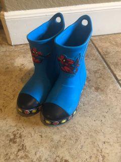Boys Spider-Man Crocs rain boots