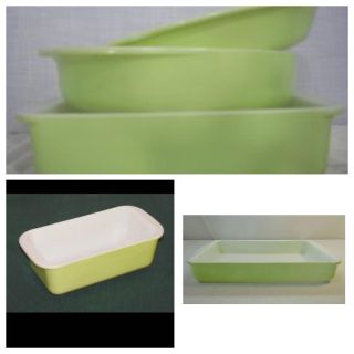 Vintage lime Pyrex pieces 1950 s to the 1960 s