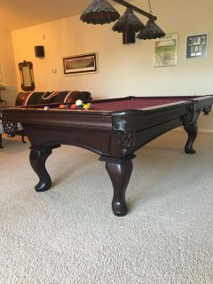 Regulation Olhausen Pool Table in Pristine Condition. $500 see additional information & photos in description
