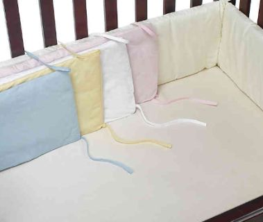 NEW-bb Basics Crib Bumpers in Maize, Pink and White