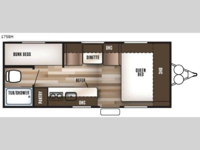 Used 2017 Forest River RV Wildwood X Lite FS 175BH