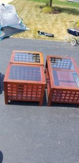 coffee table / 2 end tables
