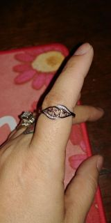 Pretty MOM ring. Silver and rose gold. Size 10