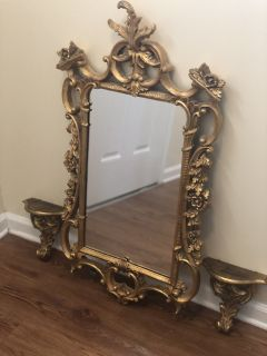 Florentia wall sconces and mirror