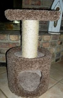 CUTE CAT CONDO PERCH SCRATCH POST COMBO - LIKE NEW)