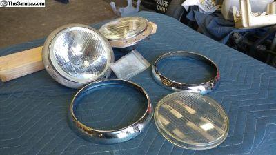 '55-'59 Low Light Ghia Headlight Assembly