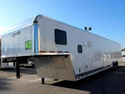 2019 48' Living Quarters Goosneck Trailer King Size Bath