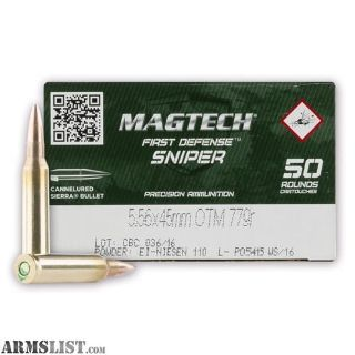 For Sale: Magtech 5.56mm NATO Sierra 77gr, 200 rounds