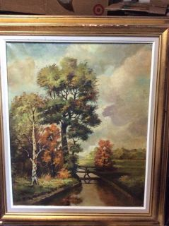 NICE FRAMED OIL PAINTING, BY NOTED GERMAN ARTIST
