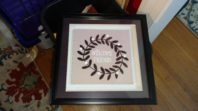 """""""welcome friends"""" wall hanging"""