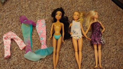 Misc barbies and clothes