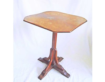 Small Antique Table Candle Stand Country Furniture