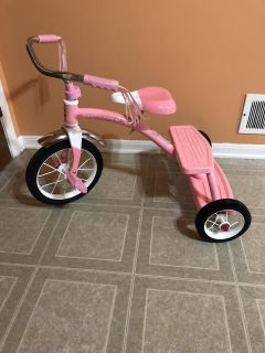 Radio flyer classic pink Dual Deck Tricycle. Brand new