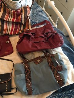 6 Purse Grab Bag ALL YOURS, NEW to Nice Condition