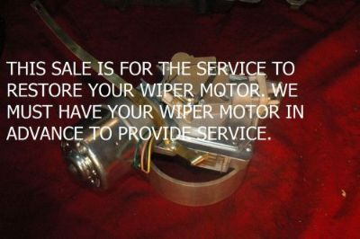 Find 1959 62 YOUR WINDSHIELD WIPER MOTOR & WASHER PUMP RESTORED - CADILLAC - PERFECT motorcycle in Justice, Illinois, United States, for US $214.95