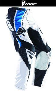 Buy Thor Phase Stripe White Blue Black Sizes 28-44 Dirt Bike Pants Motocross MX ATV motorcycle in Ashton, Illinois, US, for US $89.95