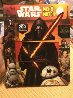 New, Star Wars Mix and Match hard story book. $1.00