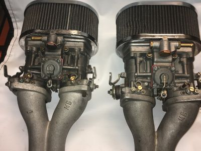 44 Weber IDF carburetors