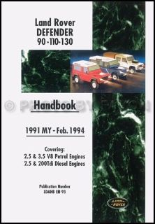 Find Land Rover Defender Owners Manual 1991 1992 1993 1994 Driver Handbook 90 110 134 motorcycle in Riverside, California, United States, for US $29.00