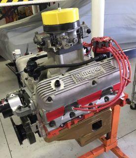 Mopar 426ci w5 R3 Race Engine complete carb to pan FRESH