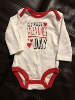 My First Valentine s Day Long Sleeve Onesie Playsuit. Like New Condition. Size Newborn
