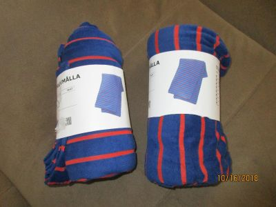 """Brand New Set of 2 Throws from IKEA, 59"""" x 67"""" $6.00 for the set"""