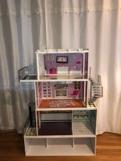 Large Wooden Barbie Dream House