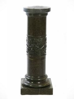 Green Continental Marble Pedestal