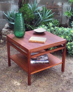 Mid century walnut end table/coffee table