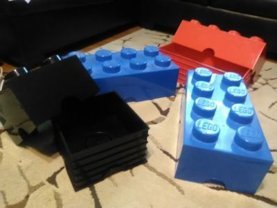 4 LEGO brand storage containers