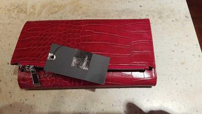 NEW Women's Mossimo Red Clutch Wallet