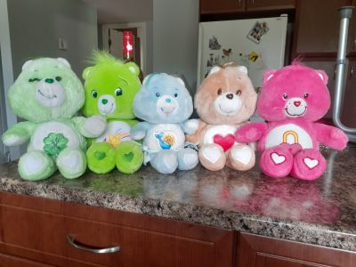 5 care bear Stuffies for $5.00 or $2.00 for 1