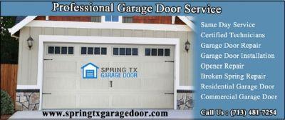 Residential Garage Door Spring Repair And Replacement ($25.95) | Spring Houston, 77379 TX