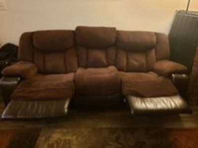 double recliner sofa