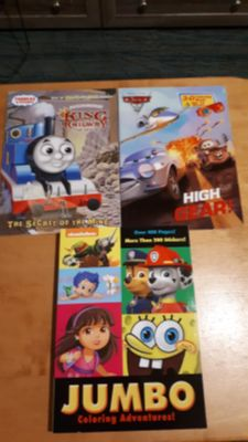 Brand new coloring/activity books