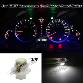 Buy 5x B8.4D LED BULBS For BMW INSTRUMENT CLUSTER SPEEDOMETER GAUGE LIGHT WHITE motorcycle in Milpitas, California, United States
