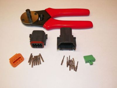 Find Black Deutsch DT 8X connector kit with solid terminal crimper tool MALE + FEMALE motorcycle in Salisbury, Massachusetts, United States, for US $58.95