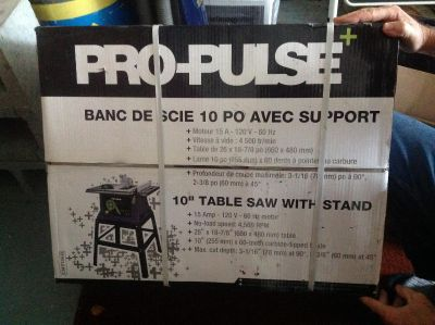 """10"""" table saw with stand NEW IN BOX"""