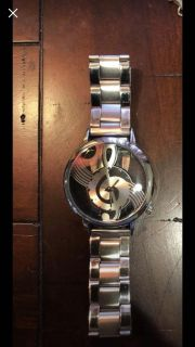 Men s or women s musical note silver watch