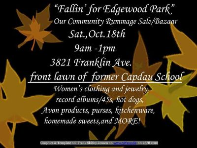 Fallin for Edgewood Park,  Gentilly Communitys Rummage SaleBazaar