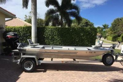 2005 Custom Built Scandy White Flats Skiff