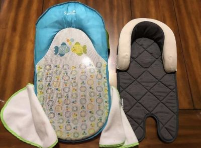 Summer Infant Bath Sling With Warming Wings 1 Set and Goldbug Air Flow Baby Head & Body Support.