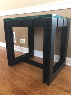 Spanish Side table or end table with .75 inch glass