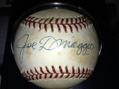 $750 Joe DiMaggio Signed Baseball w/COA