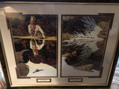 Beautiful framed pictures by Bev Doolittle